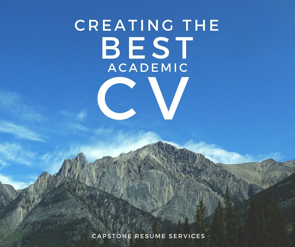Academic CV writing support