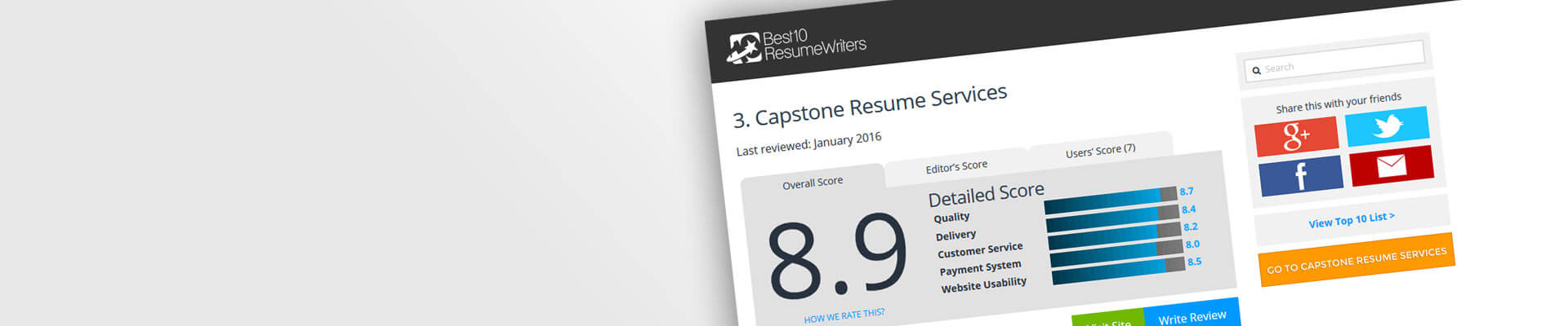 Certified Professional Resume Writers - Capstone Resume