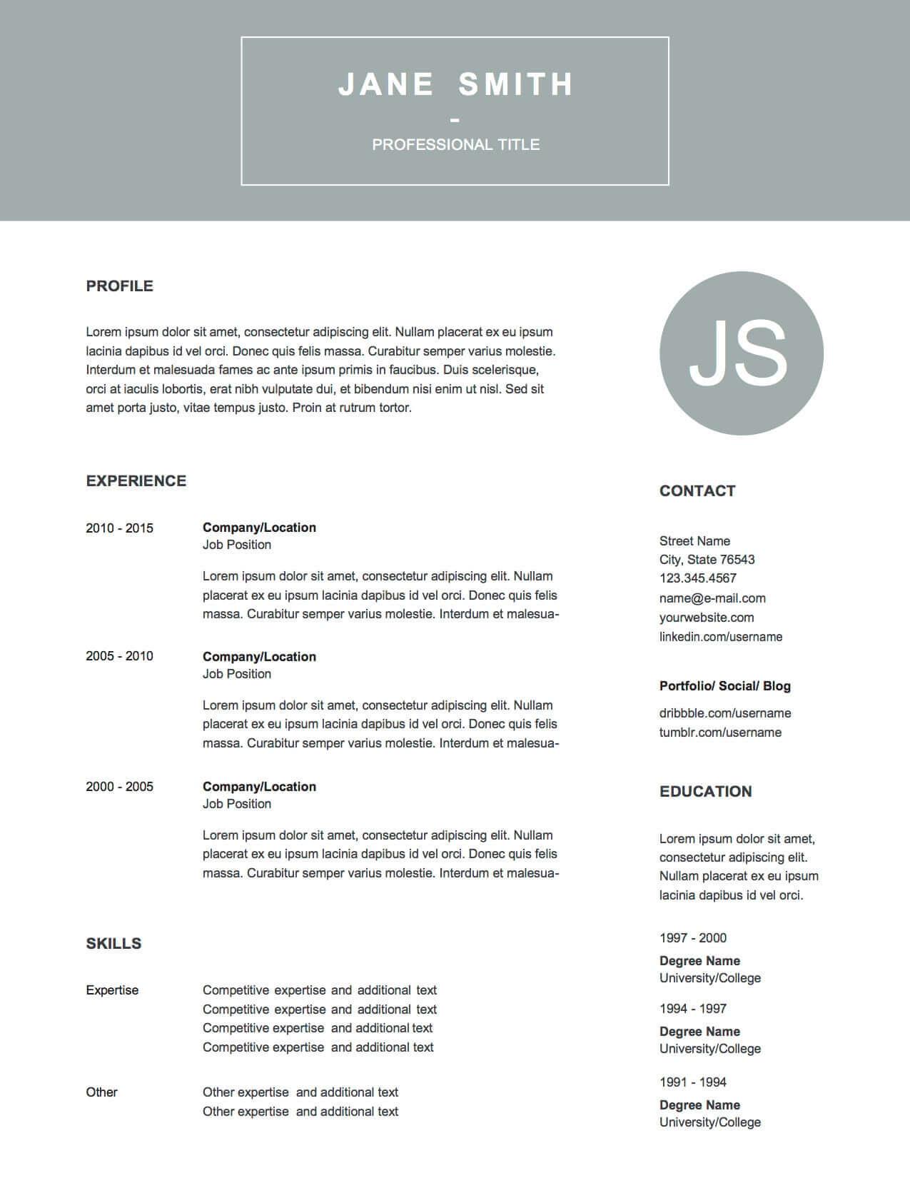 Design 1 Resume p.1