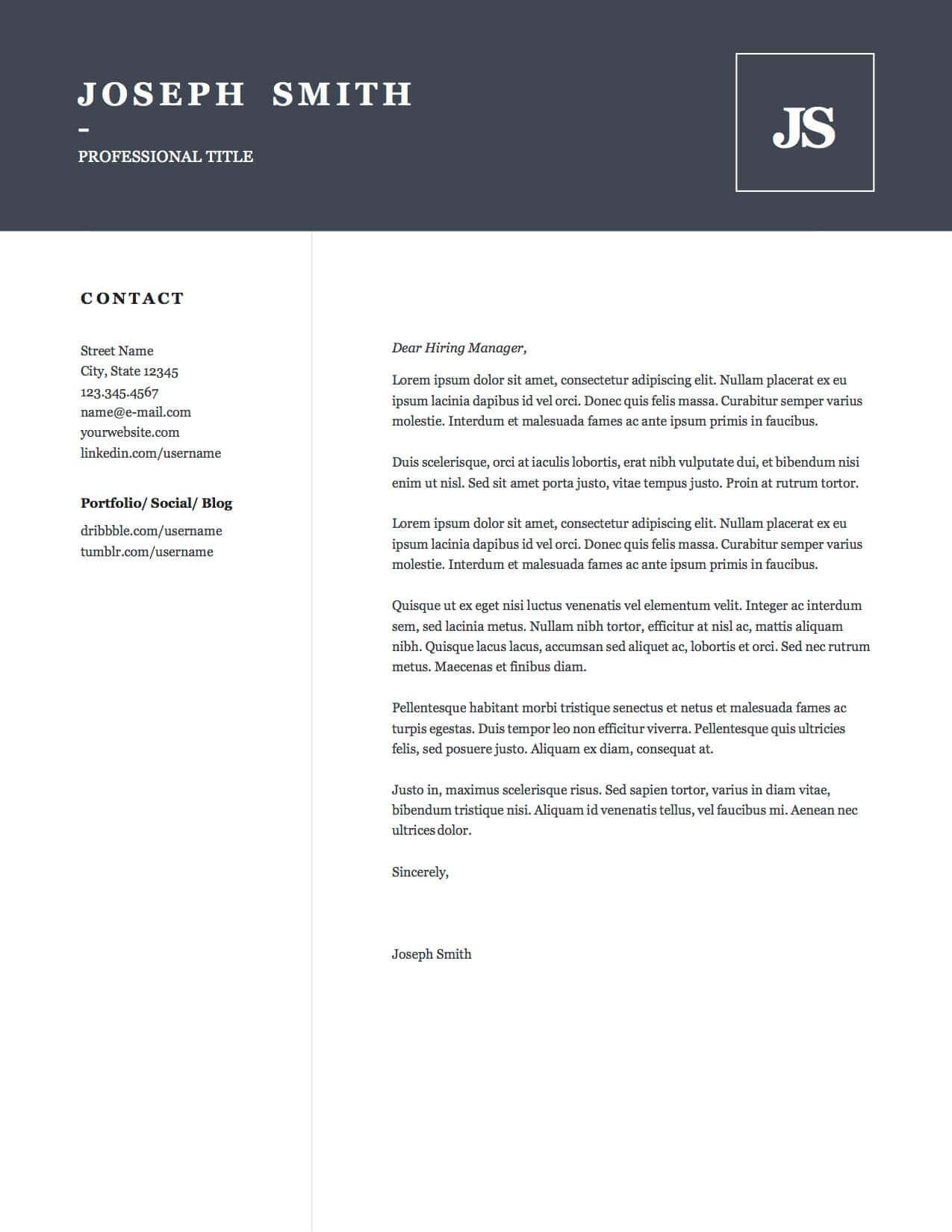 Design 3-Cover Letter