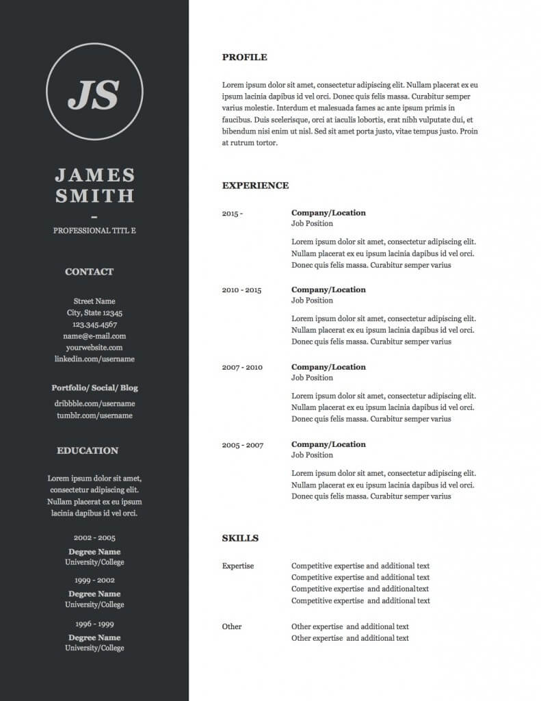 resume designs capstone resume services resume design 4