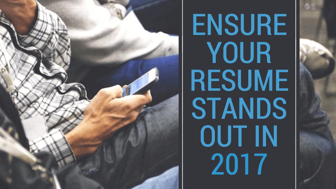 2017 resume tips