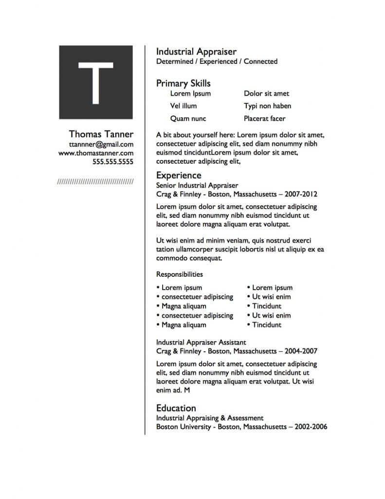 free resume designs