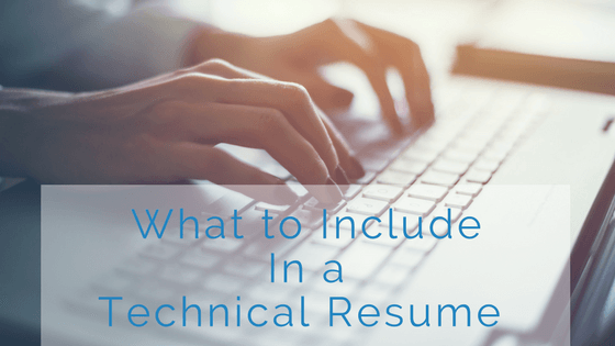 what to include in technical resume